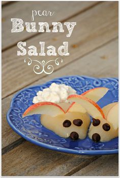 Pear Bunny Salad! A yummy and healthy snack for kids!