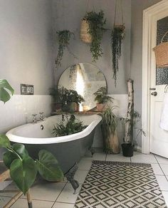 Hey everyone! These bathroom are perfect for the bathroom plants windowless bathroom plants low light bathroom plants no sunlight bathroom plants decor bathroom plants & greenery Bathroom Design Decor, Bohemian Bathroom, Bathroom Interior Design, Green Bathroom, Trendy Bathroom, Bathroom Styling, Interior Design Living Room, Bathroom Plants, Small Bathroom Remodel
