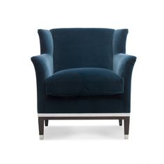 Our Kelly Chair has been a creation from our Lucien Wing, but scaled down to produce a really neatly proportioned armchair.  Fully sprung seat and back with a feather and down makes this a very comfortable chair.  Elegantly splayed arms and wings make this chair rather good looking! Available with or without a metal banding on a show wood frame.