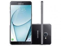 """Smartphone Samsung Galaxy A9 32GB Preto Dual Chip - 4G Câm.  16MP + Selfie 8MP Tela 6"""" FHD Octa Core R$ 2.799,00 em até 10x de R$ 279,90 sem juros no cartão de crédito  ou R$ 2.519,10 à vista (10% Desc. já calculado.)"""