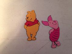 5 sets of Pooh and Piglet die cuts by scrappinbjs. Explore more products on http://scrappinbjs.etsy.com