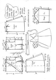 Ideas For Dress Pattern Diy Vestidos - Diy Crafts T Shirt Sewing Pattern, Shirt Dress Pattern, Pattern Drafting, Sewing Patterns Free, Clothing Patterns, Baby Girl Dress Patterns, Dress Making Patterns, Costura Fashion, Sewing Clothes Women