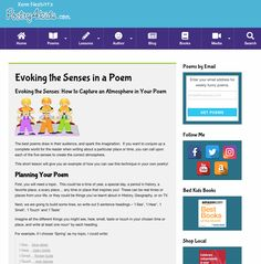 This Evoking the Senses in a Poem Activities & Project is suitable for - Grade. Budding poets choose a topic for a sensory-filled poem. Authors describe that topic using detailed language based on the five senses. Home Poem, Lesson Planet, Funny Poems, Direct Instruction, Best Poems, Instructional Strategies, English Language Arts, Sentences, Teacher