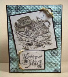 JUN13VSNI- Thinking of You Angler Hat by Julie Gearinger - Cards and Paper Crafts at Splitcoaststampers