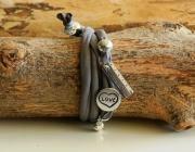 Carta Pezza Calamaio, braccialetto in fettuccia