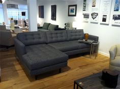 Karma  mid century sectional from ModernDesignSofas.com | Saw this in person and : deep seat sectional - Sectionals, Sofas & Couches