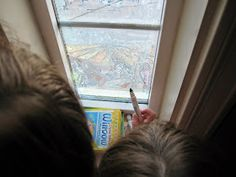 "Almost Unschoolers: Holy Week - Easter Story in ""Stained Glass"" with Window Markers"