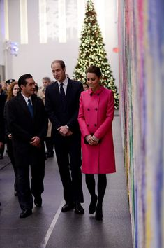 Prince William, Duke of Cambridge and Catherine, Duchess of Cambridge tour the lobby of the One Worlds Trade Center after a visit the National September 11 Memorial and Museum on December 09, 2014 in New York City. The couple, who are traveling without their son Prince George, are on a three-day US east coast visit. This is the Duke and Duchess' first official visit to New York City.