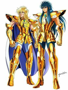 Aquarius Hyoga and Aquarius Camus