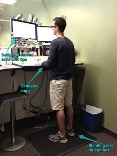 standing desk ergonomics - Words of Williams