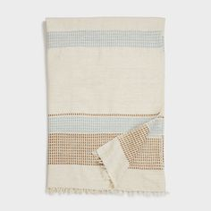 Gold Cotton Throw Blanket | DARA Artisans