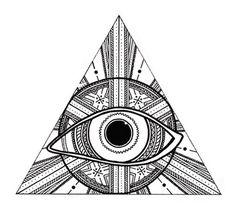 Third Eye Triangle Sticker. $3.00, via Etsy.