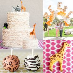 Pin for Later: 120 Kids' Birthday Party Themes to Celebrate Your Child's Big Day A Safari Birthday Party For an Animal-Lovin' Little Lady Safari Birthday Party, Summer Birthday, Animal Birthday, First Birthday Parties, Girl Birthday, First Birthdays, Birthday Ideas, Birthday Bash, Party Animals
