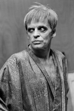 Klaus Kinski on the set of That Most Important Thing: Love (1975) Photo by Jean Gaumy
