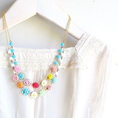 Chelsea Garden Double Floral  Necklace, via Etsy.