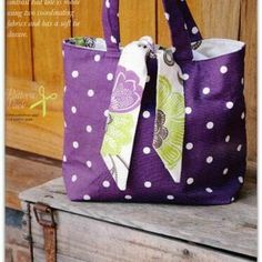 Designed for Bags, Beads & Brooches Magazine. My reversible tied tote bag sewing pattern. Super easy to make and fabulous for holidays. Instant download so click, pay & sew !