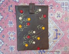 item no205 Hand crafted unique  floral tablet by ALIFEINCOLOURS, $50.00