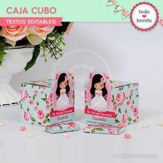 Primera Comunión modelo Candela: cajita cubo
