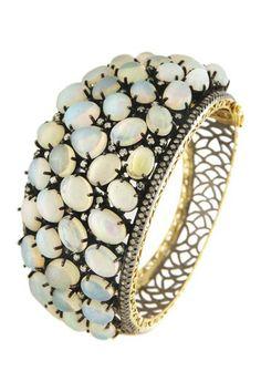 Opal Single Cut Diamond Bangle Bracelet - 3.57 ctw by Bansri