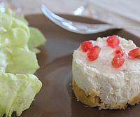 Cheesecakes au chèvre et graines de grenade de Valérie