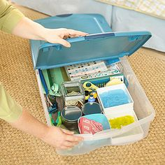 Smart Storage. No room dedicated to crafting scrapbooking or sewing? Use an & 2736 best ORGANIZATION images on Pinterest | Organization ideas ...