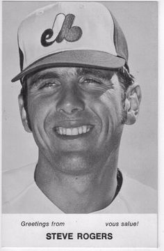 Steve Rogers 1970s Montreal Expos Team Issue Photo Card 3.5 x 5.5 Vtg Baseball