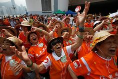 Hong Kong: People practice laughter yoga during World Laughter Day celebrations Photograph: Tyrone Siu/Reuters