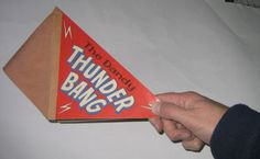 Thunder Bang- given away with copies of the Dandy comic. I wish I still had mine. 1970s Childhood, My Childhood Memories, Childhood Toys, Great Memories, Gi Joe, Retro Toys, 1950s Toys, 1960s, Thing 1