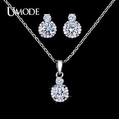 UMODE Wholesale 1 Pair Fashion Stud Earrings & 1pcs Link Chain Pendant Necklace AAA CZ  Jewelry Sets For Women AUS0027     Tag a friend who would love this!     FREE Shipping Worldwide     Get it here ---> http://jewelry-steals.com/products/umode-wholesale-1-pair-fashion-stud-earrings-1pcs-link-chain-pendant-necklace-aaa-cz-jewelry-sets-for-women-aus0027/    #new_earrings
