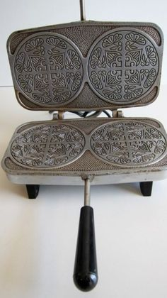 Krumkake Baker Automatic Vintage Scandinavian Cookie Maker Pizzelle Waffle iron. $24.00, via Etsy.