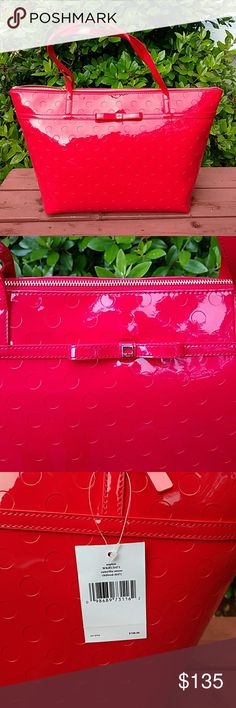 Kate Spade red tote Nwt. IL dhn1 kate spade Bags Totes