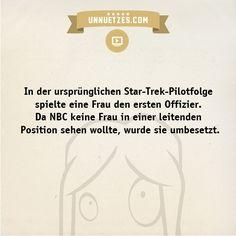 Warum die Schauspielerin ihr Mitwirken bei Star Trek nie bereute: http://www.unnuetzes.com/wissen/11399/star-trek-pilotfolge/