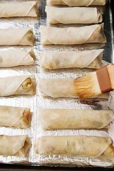 Rollos primavera horneados | 31 versiones horneadas más saludables de comidas fritas