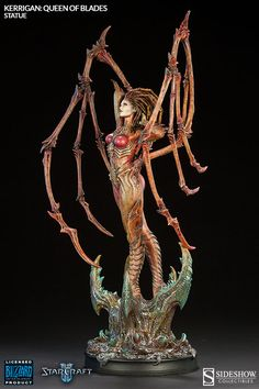 Capturing Kerrigan's feminine yet alien characteristics with extraordinary handcrafted detail, the Kerrigan Queen of Blades Statue will be a must-have for StarCraft fans. Description from news.toyark.com. I searched for this on bing.com/images