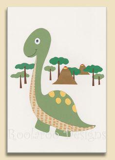 Dinosaur Wall Art Boys Room Decor Little Boys By RoolarooDesigns, $13.50