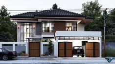 Two Story House Design, Classic House Design, Small House Design, Modern House Design, Modern Houses, One Storey House, 2 Storey House Design, Classic House Exterior, Dream House Exterior