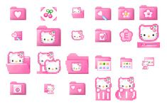 Hello Kitty Icons For Windows Aesthetic Indie, Pink Aesthetic, Animes Wallpapers, Cute Wallpapers, Overlays, Cat App, Iphone App Layout, Phone Themes, Iphone Design
