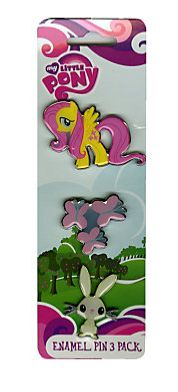 Fluttershy 3 pin pack: http://www.hottopic.com/hottopic/PopCulture/ShopByPopCulture/License/MyLittlePony/Loungefly+My+Little+Pony+Fluttershy+Enamel+Pin+3+Pack-319896.jsp