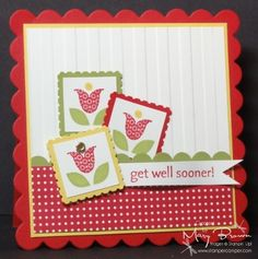Summer Smooches (Stampin Up stamp set & papers) by Mary Brown