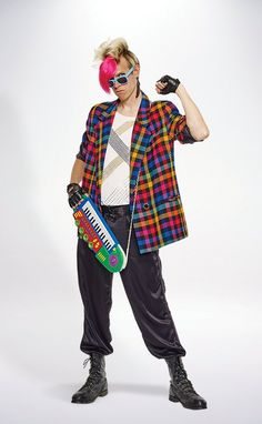 Flashback to the with a costume this Halloween season. Find your blast to the past icon costume at a local Value Village thrift store today. 80s Costume, Halloween Costumes, 80s Icons, Shadowrun, New Wave, Great Deals, Thrifting, Waves, Clothes