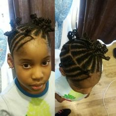Round side n ponytail middle
