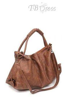 129a25c9d3fb3 Functional Pleated Solid Color Women s Handbag http   www.tbdress.com