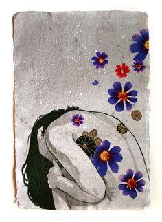 Cut Fabric Flower Girls - Stasia Burrington Illustration