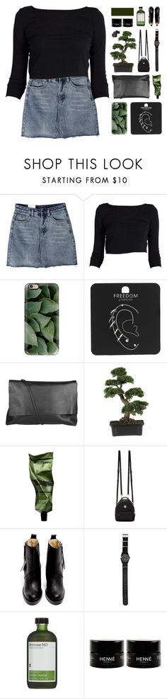 """""""♡ can't you see we got a good thing here"""" by spriingy ❤ liked on Polyvore featuring Casetify, Topshop, Arlington Milne, Nearly Natural, Aesop, Versace, Acne Studios, Stussy, Perricone MD and Bobbi Brown Cosmetics"""