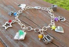 YW Values Charm Bracelet with Colored Beads - LDS. $17.00, via Etsy.