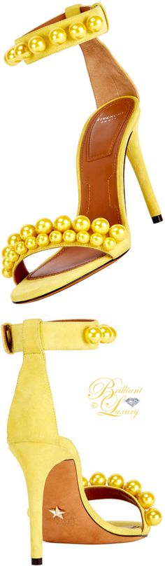 Brilliant Luxury by Emmy DE ♦ Givenchy Classic Pearlescent Suede Sandal