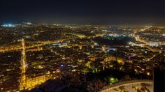 cool World Greece Night view of Athens