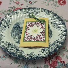 Mother's day tea. I like to use my China and put a small gift at rach place setting. This card contains a flower seed packet.