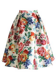 Blossom Age Floral Midi Skirt - Skirt - Bottoms - Retro, Indie and Unique Fashion