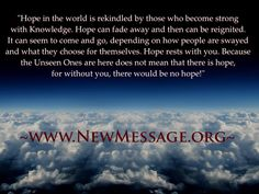 Hope, knowledge and purpose.  www.newmessage.org